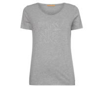 T-Shirt mit Logo-Print in Metallicoptik