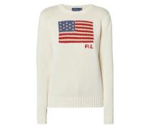 Pullover mit eingestrickter Flagge