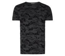 T-Shirt mit Camouflage-Flockprint