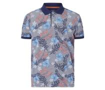 Poloshirt mit floralem Muster