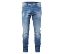 Slim Fit Stone Washed 5-Pocket-Jeans