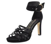 Sandalette aus Leder mit breitem Fesselriemen