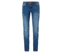 Shape Slim Fit 5-Pocket-Jeans im Destroyed Look