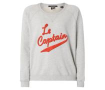 Sweatshirt mit Schriftzug aus Frottee