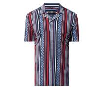 Slim Fit Business-Hemd aus Viskose