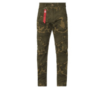Cargohose mit Camouflage-Muster