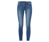 Double Stone Washed Skinny Fit Jeans