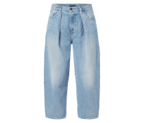 Stone Washed Barrel Fit Jeans