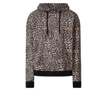 Hoodie mit Leopardenmuster Modell 'Aime'