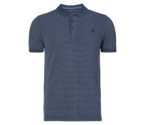 Shaped Fit Poloshirt mit Allover-Muster