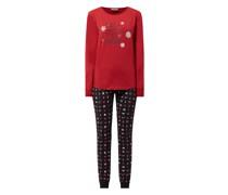 Pyjama mit Weihnachtsmuster