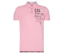 Poloshirt mit Logo-Prints und Aufnähern