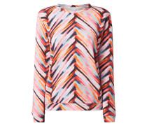 Sweatshirt mit künstlerischem Muster