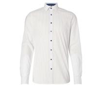 Body Fit Hemd mit feinem Allover-Muster