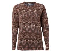 Sweatshirt mit ornamentalischem Muster