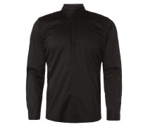 Slim Fit Hemd mit abnehmbarem Besatz