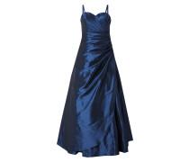 Abendkleid aus Taft mit Drapierung