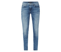 Stone Washed Skinny Fit Jeans mit Stretch-Anteil