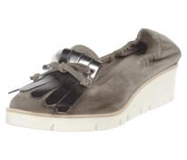Loafer aus echtem Veloursleder mit Shoe Flaps