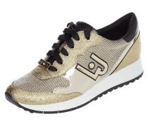 Sneaker Wedges 'Linda' aus Leder in Metallicoptik
