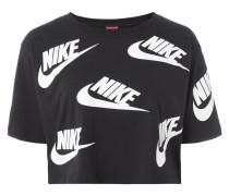 Crop-Shirt mit Logo-Prints