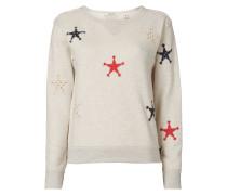 Sweatshirt mit Stern-Aufnähern