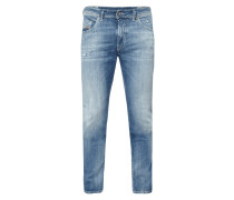 Slim-Skinny Fit Jeans im Heavy Used Look