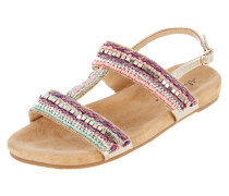 Sandalen mit Zierperlen und Ziersteinen