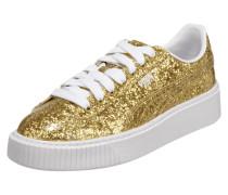 Sneaker 'Basket Platform' mit Glitter-Effekt