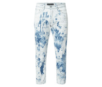 Relaxed Fit Jeans mit Batikmuster