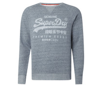 Sweatshirt mit Logo-Print im Washed Out Look