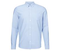 Slim Fit Freizeithemd mit feinem Webmuster