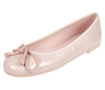 Ballerinas aus echtem Lackleder