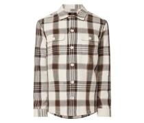 Regular Fit Flanellhemd aus Baumwolle Modell 'Cistorm'
