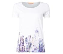 T-Shirt mit Skyline-Print