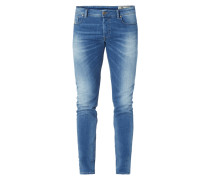 Stone Washed Slim Skinny Fit Jeans