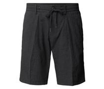 Chino-Shorts mit Vichy-Karos