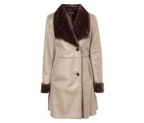 Mantel mit Innenseite aus Webpelz