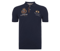 Slim Fit Poloshirt mit Logo-Stickereien