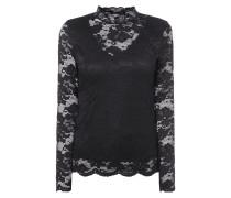 Shirt aus floraler Spitze