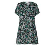 PLUS SIZE Blusenkleid mit floralem Muster Modell 'Caranemony'