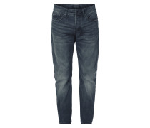 Stone Washed Loose Fit Jeans