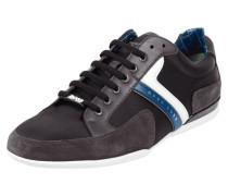 Sneaker mit Besatz aus echtem Leder