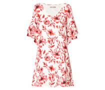 Kleid aus Viskosekrepp mit floralem Muster