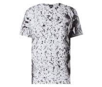 T-Shirt in Snake-Optik
