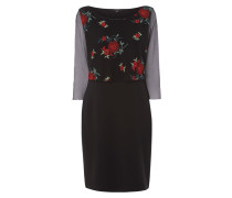 Kleid im Rock-Top-Look mit Rosen-Stickereien