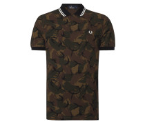 Poloshirt mit Camouflage-Muster