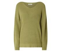 Pullover mit überschnittenen Schultern Modell 'Dalina'