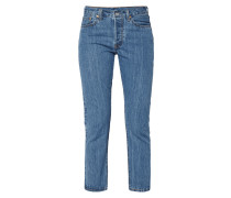 Rinsed Washed High Waist Jeans