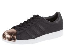 Sneaker aus Leder mit Vorderkappe aus Metall